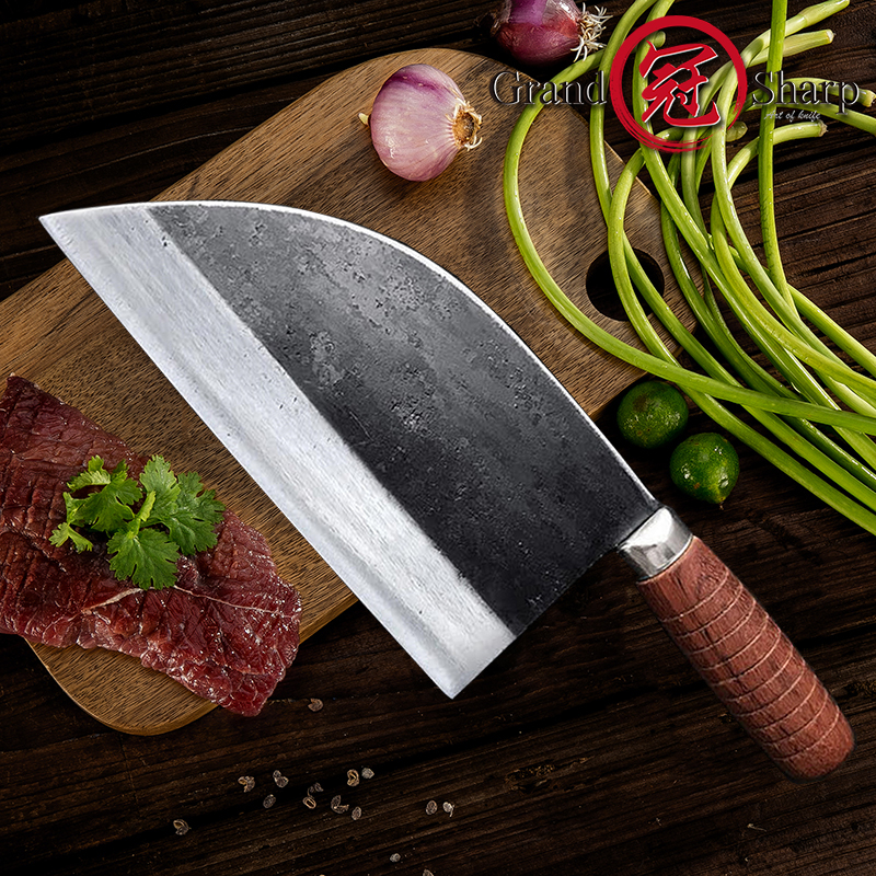 7 9 Inch Handmade Chinese Cleaver Forged Chef Knife Kitchen Knives Chicken Duck Fish Seafood Butcher