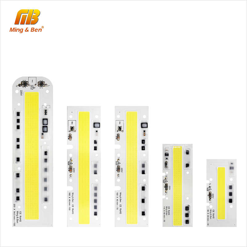 [MingBen] LED COB Chip Lamp 30W 50W 70W 100W 150W 220V 110V IP65 Smart IC Fit For DIY LED Floodlight Cold White Warm White Light splicing 2 light led blinders with 100w led cob x2 amber cold white color for audience blinding color warm
