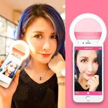 Selfie portátil teléfono fotografía foto anillo de luz con 5 modos de flash led para smartphone iphone 7/6 s plus lg samsung htc