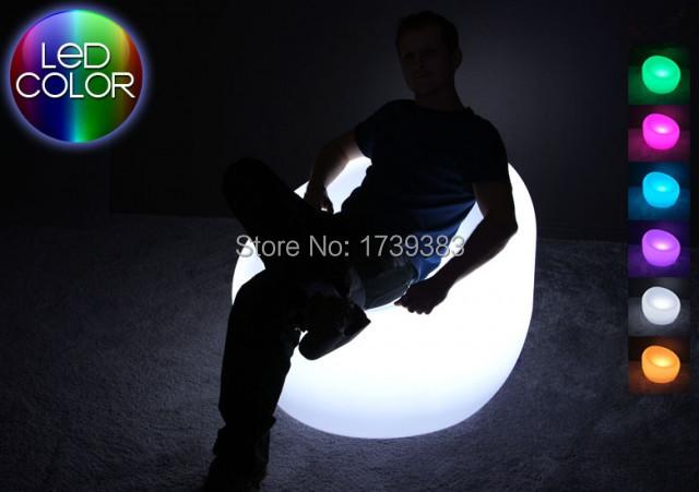 Poltrona sofá à prova d' água LED LED Brilhante Multi cores-ROUND decorar a sua sala de estar, quartos, jardim, piscina, terraço etc