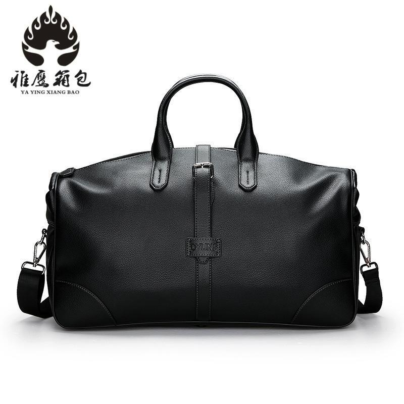 Male Travel Bag Mens Genuine Leather Shoulder Bag Vintage Duffle Handbag Large Capacity Crossbody Bags Daily Life Tote Bag