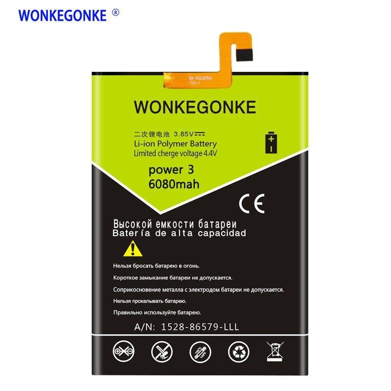WONKEGONKE for Ulefone Power 3 6.018:9 Screen mobile phone battery