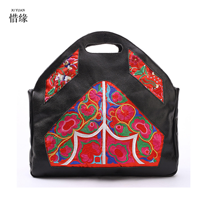 2017 Women Genuine leather Handbags Beach hand Bag Ladies Embroidery Vintage Shopping Big Tote Travel handbag Lady School Bags