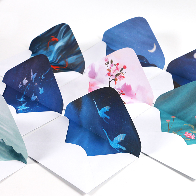 Chinese Retro Classical Hand-painted Collection Paper Envelope Enveloppe Wedding Envelopes For Invitations Decorative Envelope