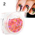Multicolor caliente de La Manera 1 Caja de 1mm-2mm Mixta Mini Ronda Nail Art Puntas Glitter Paillette Decoración N° 25