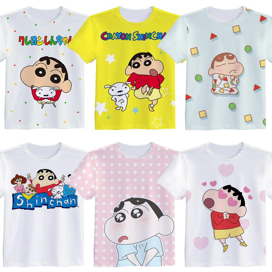 Anime Movie Crayon Shin-chan Woman Man Cartoon Lovely Printing Custom Made T-shirt Tees Christmas Gift Fancy Fashion Cool