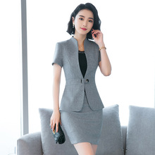 TUHAO 2018 Summer Women's Formal Style Single Button Plus Size 4XL 3XL Women Set Office Lady Suit for Woman OL Clothing HN143