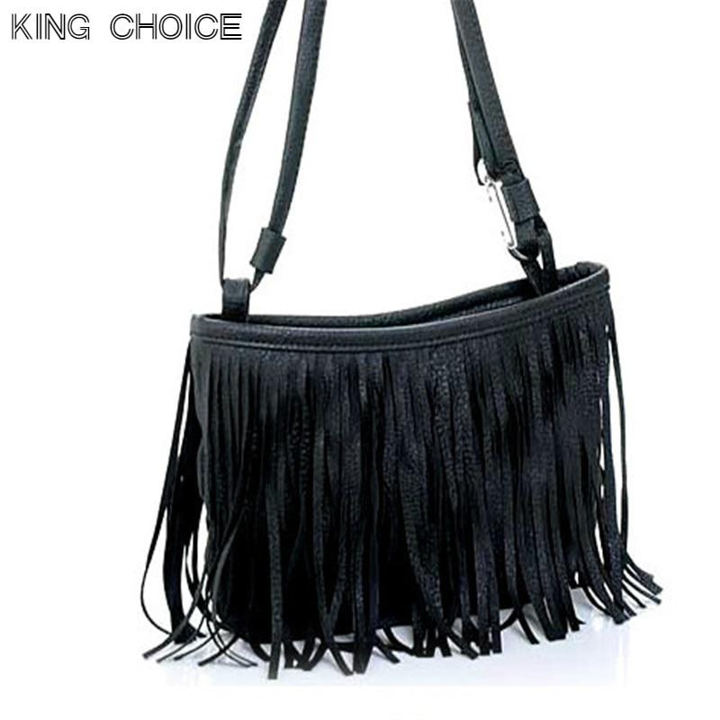 New brand 2017 Hot Tassel Shoulder Messenger Crossbody Leather Clutch Handbag Women Satchel Bags