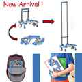 Chegada nova portátil dobrável carrinho de compras para casa liga de alumínio carrinho de compras carrinho de bagagem carro de liga de alumínio reboque carrinho carro