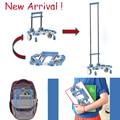Nueva llegada plegable portátil carro de compras aleación de aluminio de casa de compras equipaje tranvía aleación de aluminio del remolque cesta coche