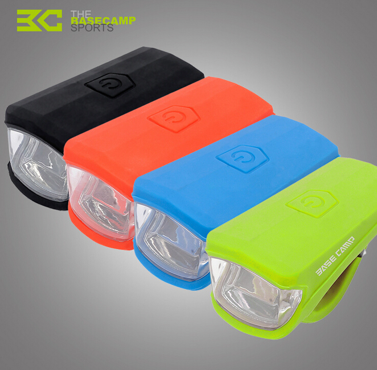 BASECAMP MTB Bicycle 3W LED Front Light Silica Gel Waterproof USB Rechargeble Lamp Bike Accessories