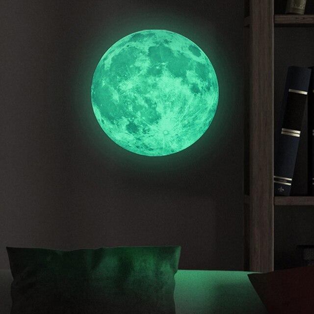 Glow In The Dark Wall Murals aliexpress : buy luminous art mural wall sticker moon glow in