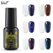 Belen 8 мл Хамелеон звёздный Гель-лак для ногтей Блестящий УФ светодиодный Гель-лак долговечный Гель-лак для ногтей впитывающий Гель для маникюра