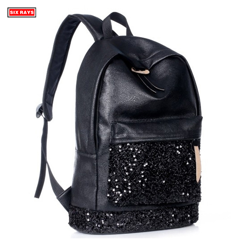 New 2019 Fashion Women Backpack Big Crown Embroidered Sequins Backpack Wholesale Women Leather Backpack School BagsNew 2019 Fashion Women Backpack Big Crown Embroidered Sequins Backpack Wholesale Women Leather Backpack School Bags