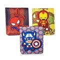 2016 Nova Carteira de Design 3D Marvel Spiderman Capitão América Hulk Homem De Ferro Bonito Dos Desenhos Animados Carteiras Com Suporte de Cartão Preço do Dólar