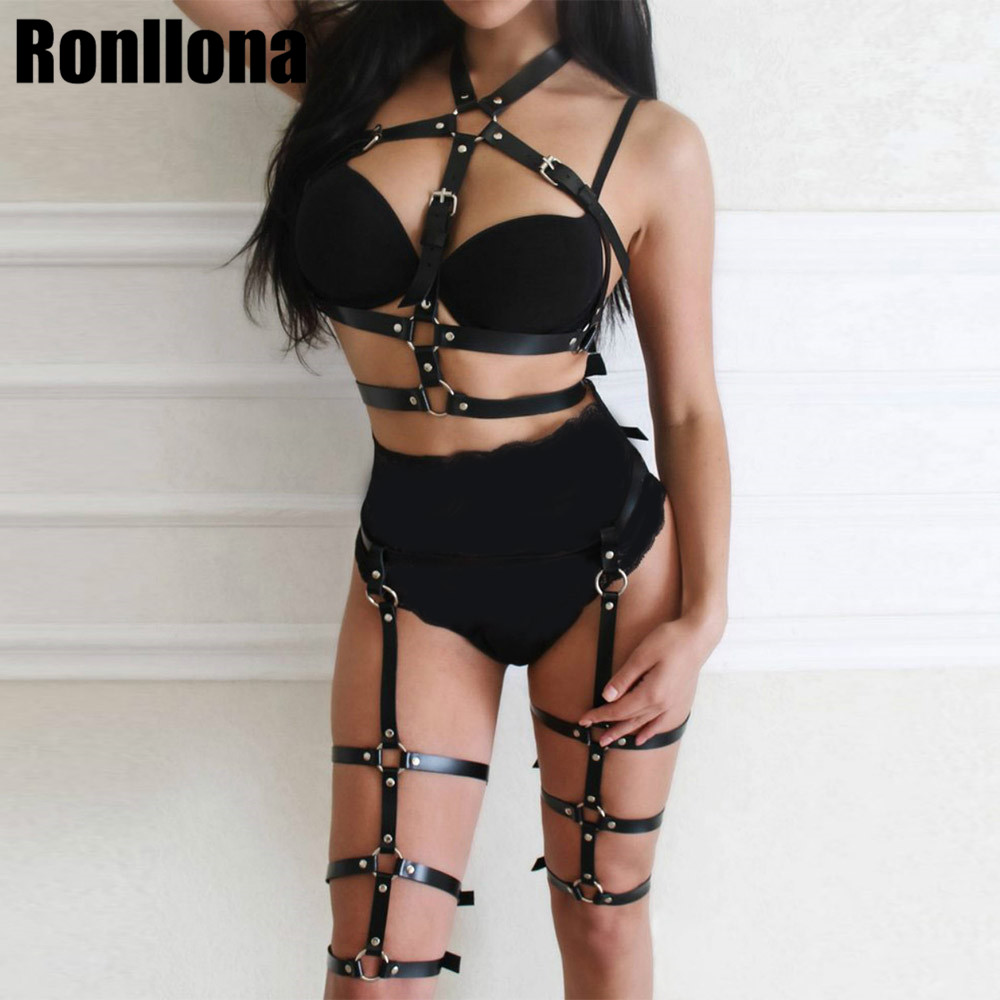 Sexy Black Open Cup Body Harness Lingerie