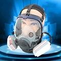 Máscara de gas 7 Trajes, Gases Y Vapores Orgánicos químicos De Mezcla De Pintura Filtro del respirador de la Máscara/Spray de Graffiti, Construction, Renovation