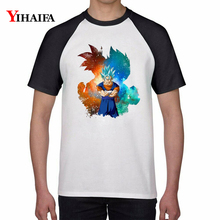 Dragon Ball Z Cartoon 3D Men Women T Shirts Goku Saiyan Graphic Tees White Anime Tee Tops Unisex dragon ball t shirt