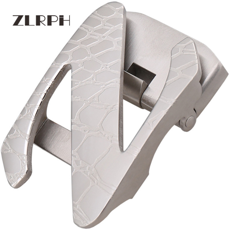 ZLRPH Trendy Design Belt Buckle Head High-grade Polished Electroplating Alloy Automatic Buckle Belt Buckle 304 Stainle Steel