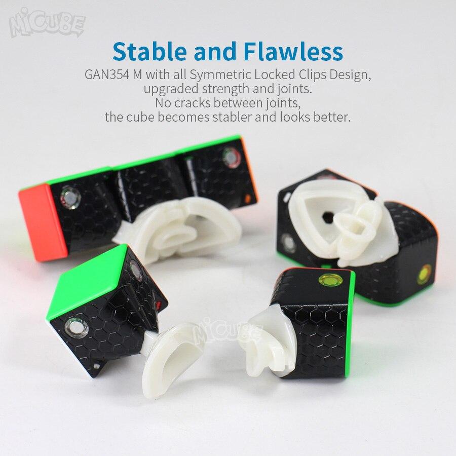 GAN354M Cube magnétique 3x3x3 Cube magique vitesse 3x3 Cubo Magico GAN 354 M sans autocollant GAN 354 M Puzzle Twist jouets pour enfants - 4
