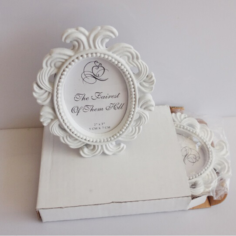 50 Pcslot Whiteblack Oval Baroque Place Card Holder Resin Photo