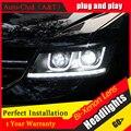 Auto Car Styling Clud para Dodge JCUV LED Faro 2008-2015 Viaje Freemont Faros drl Lente Doble Haz H7 HID de Xenón