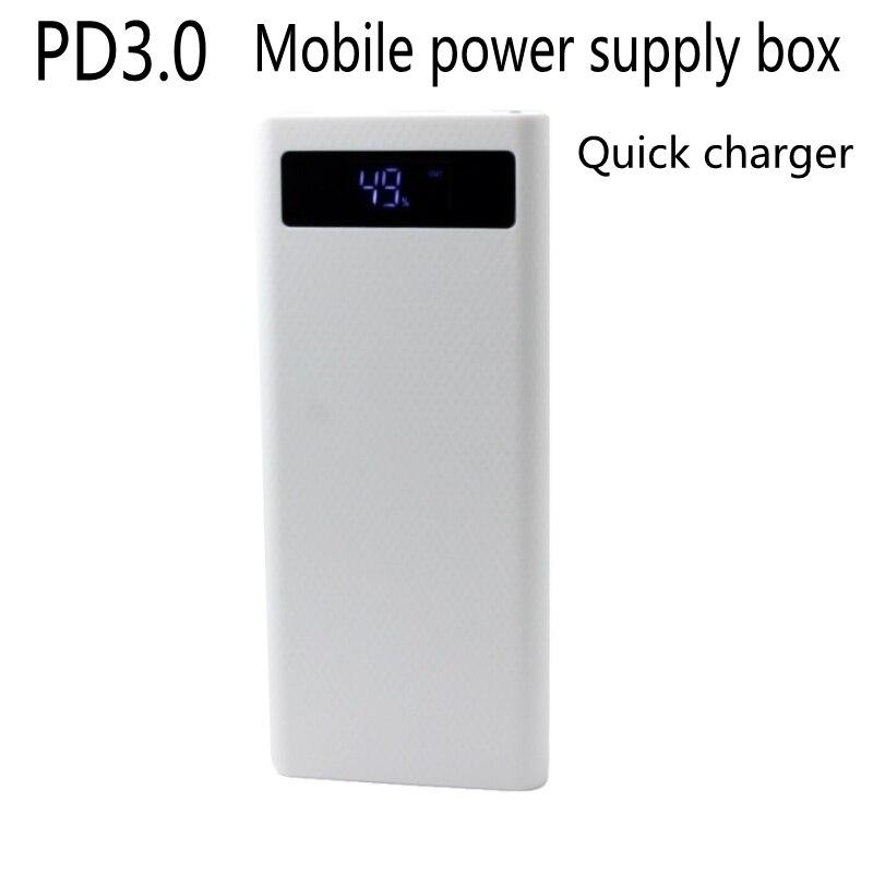 Quick charge DIY 8x18650 Portable Battery Power Bank Shell Case Box LCD Display Dual USB QC2.0 3.0 5V3A9V2A12V1.5A(No Battery)