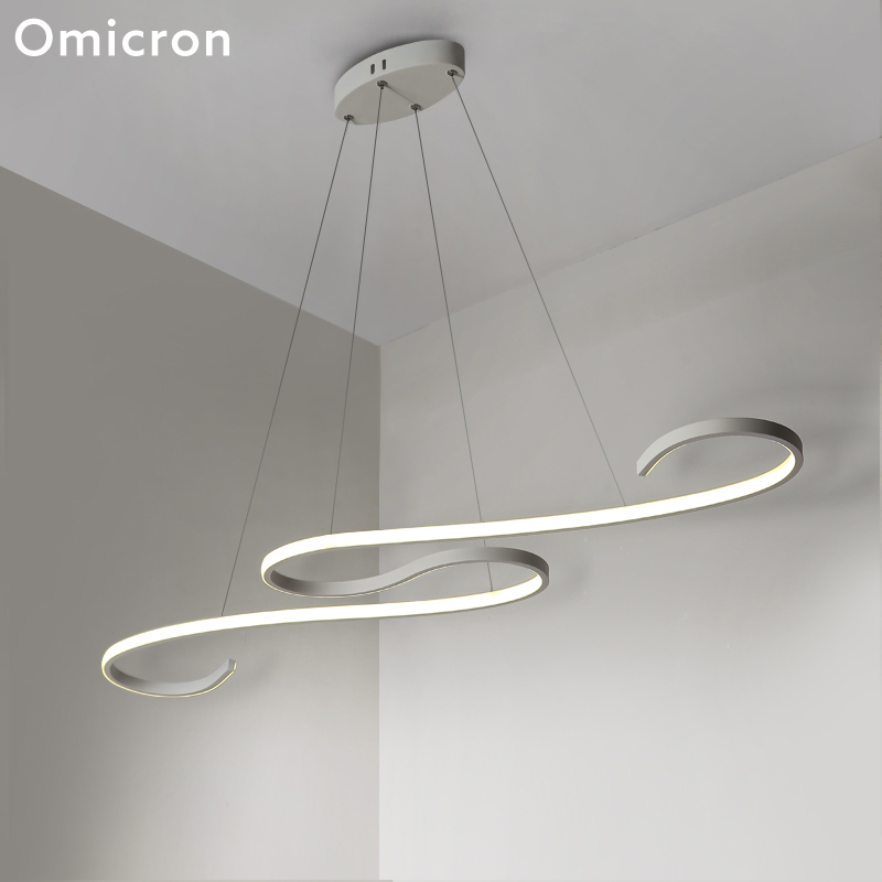 Omicron Modern LED Chandeliers Ceiling LED Water Wave Originality For Living Room Study Room Lighting Home Fixtures LampOmicron Modern LED Chandeliers Ceiling LED Water Wave Originality For Living Room Study Room Lighting Home Fixtures Lamp