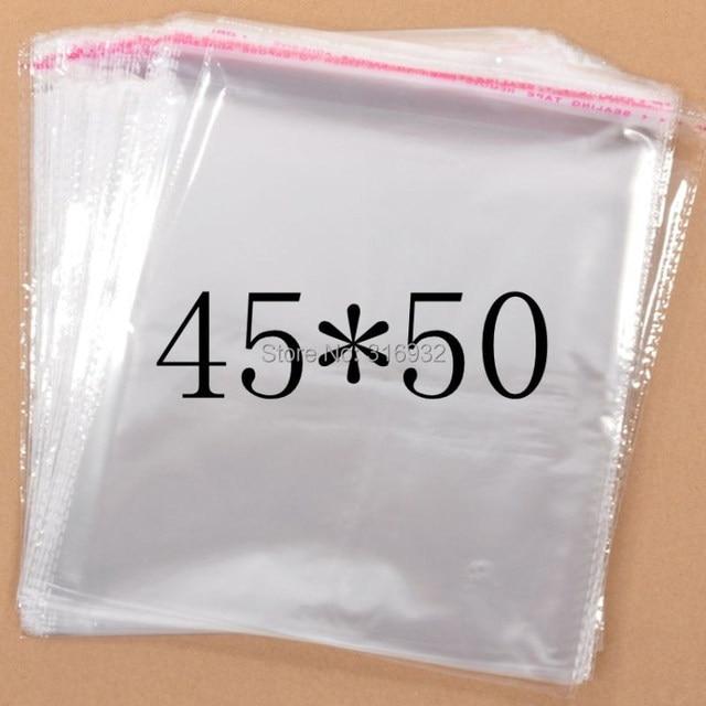 Прозрачный из целлофана с застежкой большие полиэтиленовые пакеты 45*50 см, Прозрачные полиэтиленовые пакеты, пластиковые пакеты, самоклеящиеся пакеты 45*50 см