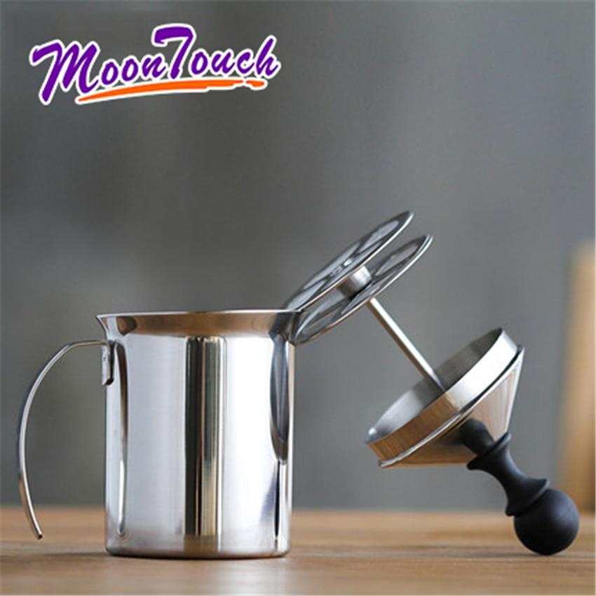 Original Manual Milk Frother Stainless Steel Double Mesh Milk Creamer Milk Foam Mesh Coffee Foamer Creamer Barista Tool Coffee
