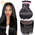 7a Mink Brazilian Virgin Hair With Closure 13x4Ear To Ear Lace Frontal Closure With Bundles Brazilian Straight Hair With Closure