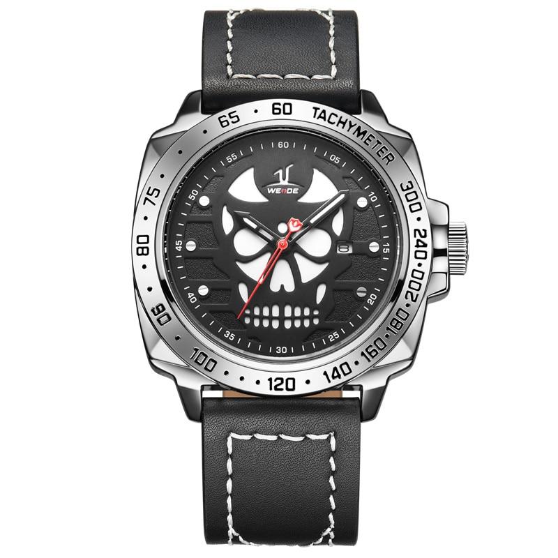 3fdf06a8805 WEIDE Luxo Marca Quartz Analógico Relógios Pulseira de Couro Relógio de  Pulso do Esporte dos homens