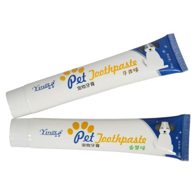 Dog Healthy Edible Toothpaste Small Dog Cats Mouth And Teeth Cleaning And Care Supplies Vanilla And Beef 2 Taste Pet Accessories 3