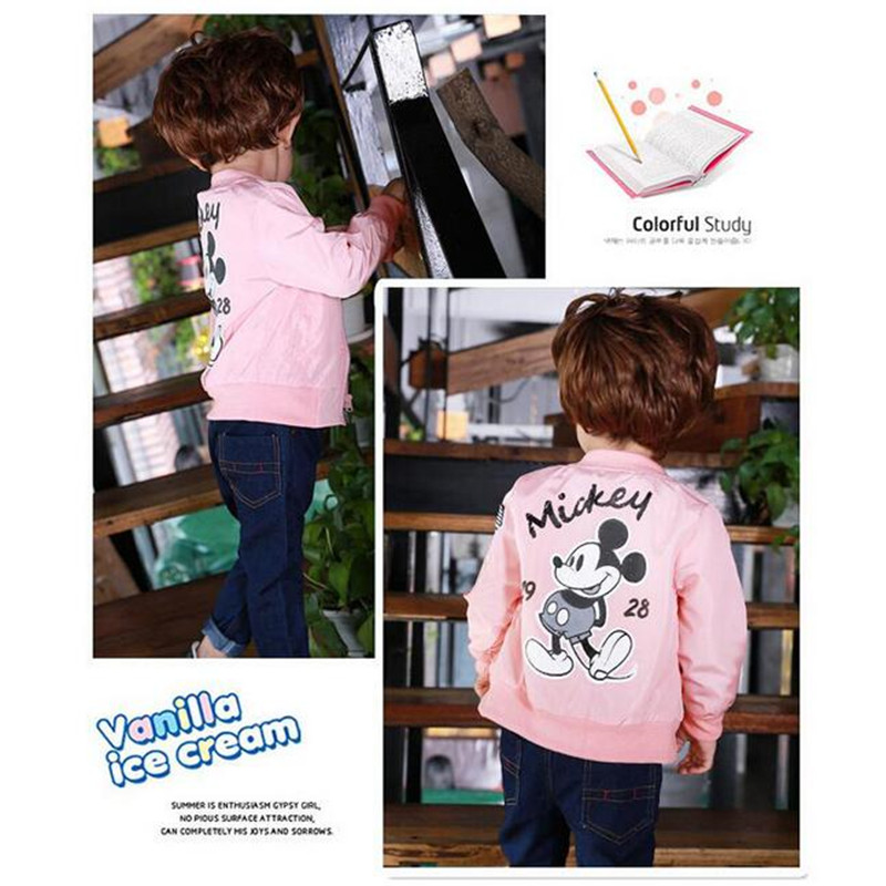 ALI shop ...  ... 32816050678 ... 3 ... Baby Clothes Cartoon Mickey Pattern Girls Boys Jackets Coats Toddler Kids Jacket Outwear Baseball Windproof Children Clothes New ...