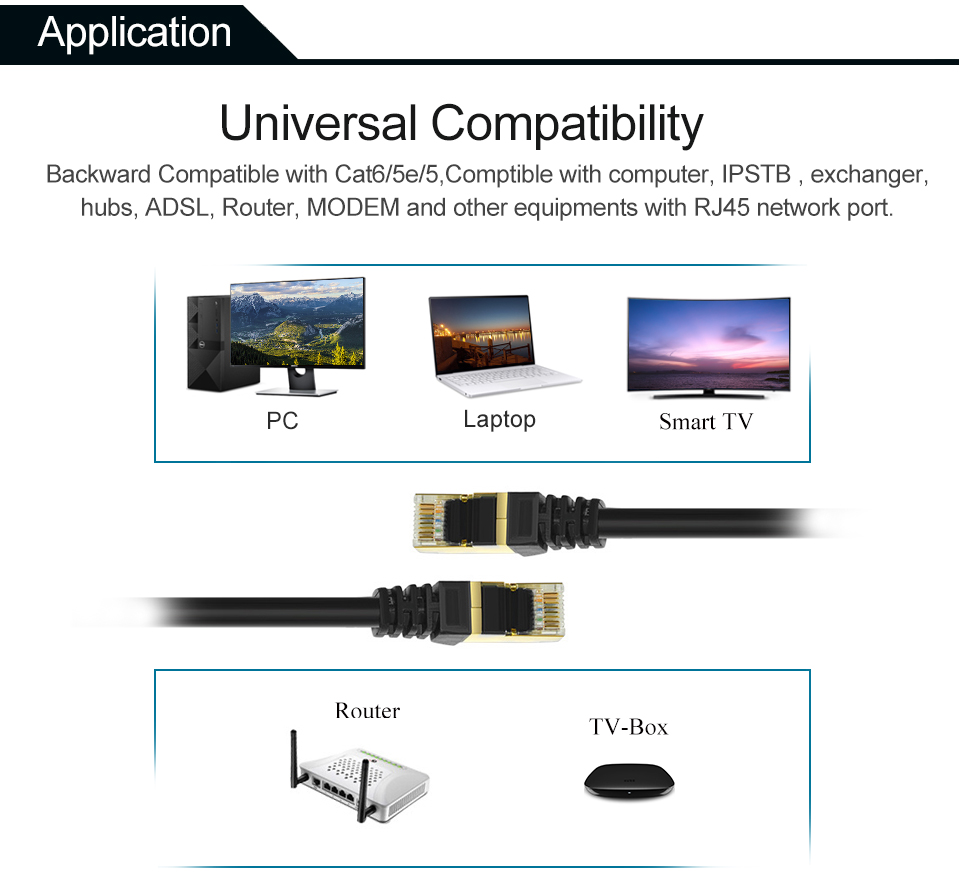 hight resolution of  cat7 ethernet cable rj45 computer xbox networking lan cords cat 7 jumper gigabit computer copper wire