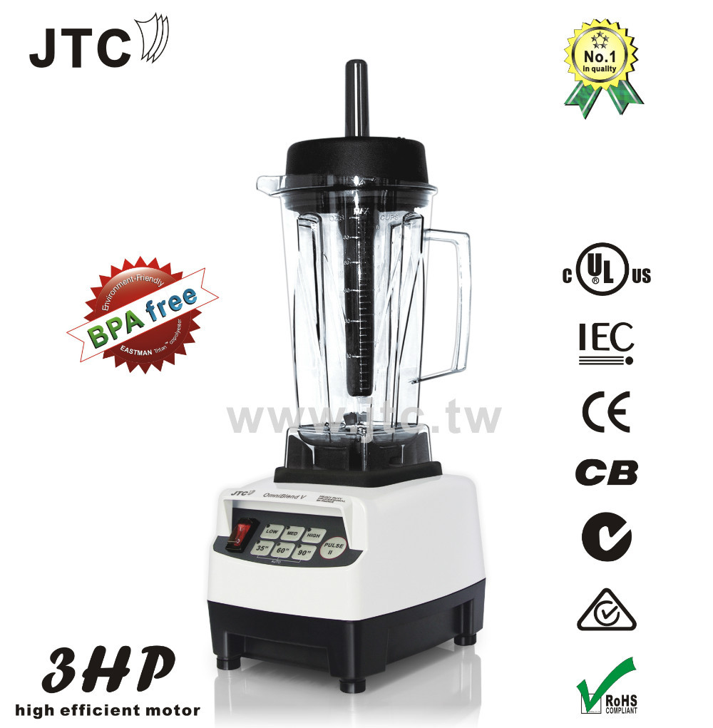 BPA FREE 3HP Commercial Blender,Automatic Timer, Model: TM-800, White, FREE SHIPPING, 100% GUARANTEE NO. 1 QUALITY IN THE WORLD