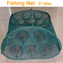 2017 NEW Folding 21 Hole Fishing Net Minnow Shrimp Cage Nylon Foldable Crab Fish Trap Cast Net Cast Fishing Network