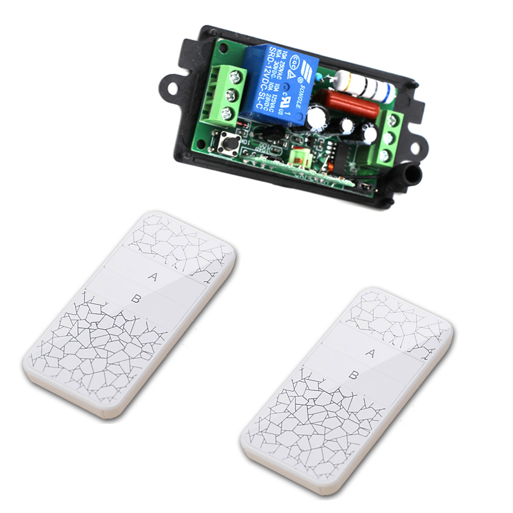 Wireless Remote Control Light Switch 110V 10A Relay Output Radio Controller 220V 1 Channel Receiver Module + 2CH Transmitter wireless rf remote control light switch 10a relay output radio ac 220v 110v 1 ch channel 1ch receiver module transmitter