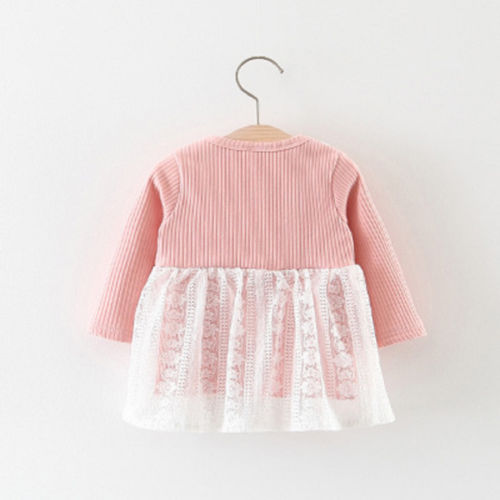 Cute Newborn Kids Baby Girls Lace Dress Long Sleeve Bow Princess Wedding Party Tulle Dresses Winter Vestidos