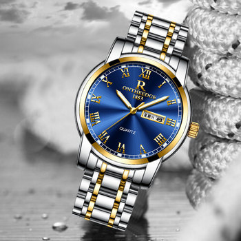 Stainless steel Waterproof Business Date Analog Wrist watch 1