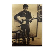 Vintage Poster Bob Dylan Retro Kraft Paper Posters,Interior Bar,Decoration Painting Sticker Decorative Paste Home Decor