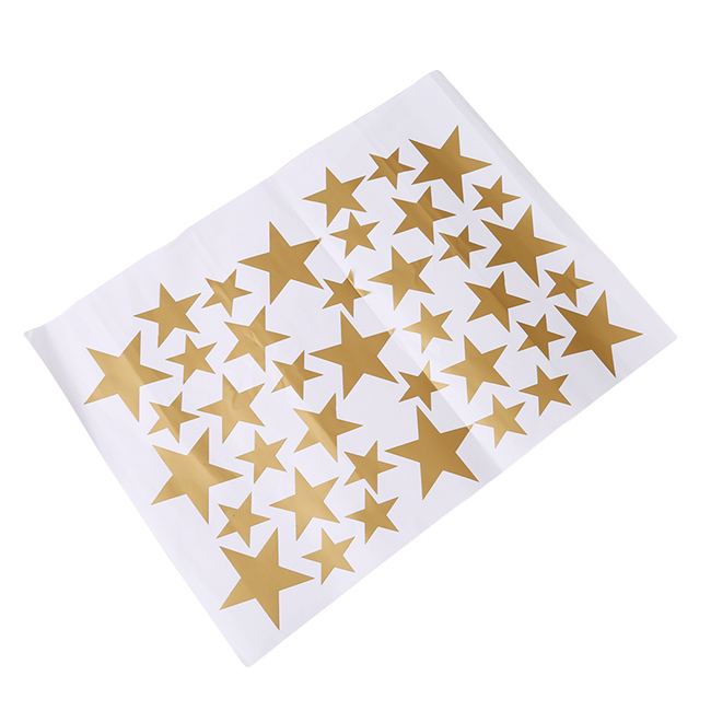 39pcs Stars Pattern Vinyl Wall Art Decals For Kids Rooms-Free Shipping For Kids Rooms