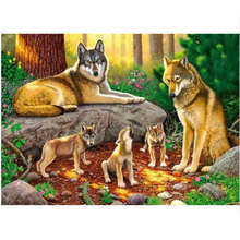 Drawing By Numbers,Wolf Family,Diy Oil Painting Numbers,Paint Number Kits