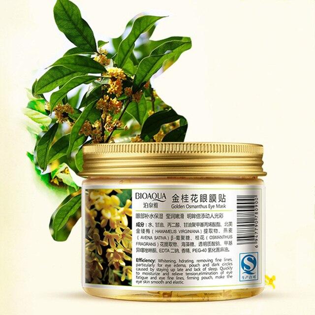 80 pcs/ bottle BIOAQUA Gold Osmanthus eye mask Nourish Moisturizing Gentle skin care Women 1