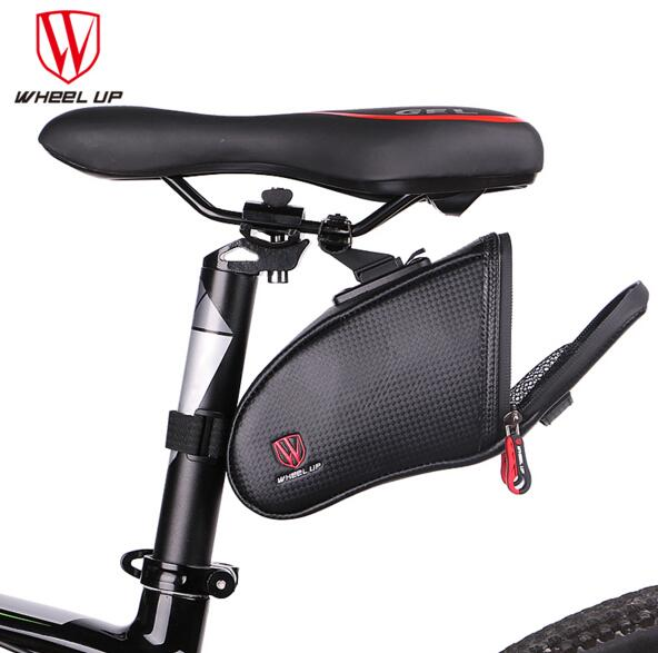 WHEEL UP Bicycle Saddle Bag Waterproof MTB Road Bike Rear Bags Cyclgn Rear Seat Bag Reflective Bike Tail Bag Cycling Equipment