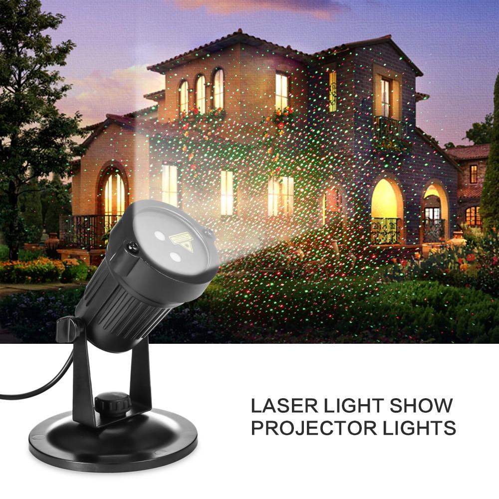 Indoor Light Show: Christmas Laser Projector Mini IP65 Waterproof RG Laser