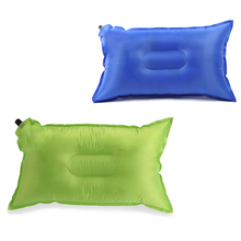 Venta caliente Auto Inflable Caliente conveniente cómodo Colchón de Aire Almohada para viajar Al Aire Libre Del Envío Libre