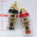 A pair 45mm Banana connector Gold-plated Banana plugs sockets Copper terminal for Stereo speakers