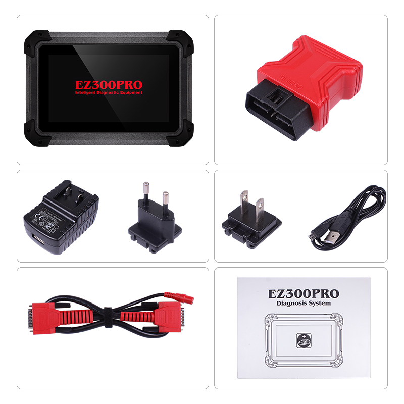 XTOOL EZ300 PRO With 5 Systems Auto Diagnosis Engine ABS SRS Transmission and TPMS Tablet Diagnosis