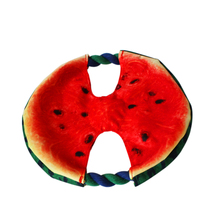 Diameter 19cm Canvas Watermelon Designed Dog Toy